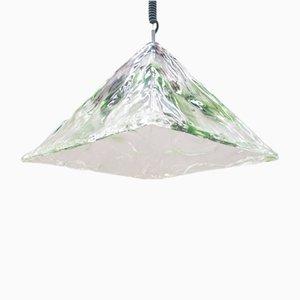 Lámpara Mid-Century de cristal de Murano de Mazzega, años 60