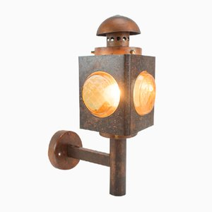 Mid-Century Copper Wall Outdoor Light