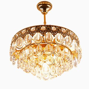 Vintage Teardrop Crystal Chandelier from Palwa