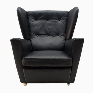 Mid-Century English Wingback Armchair
