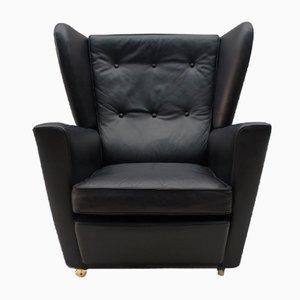 Mid-Century English Wingback Armchair