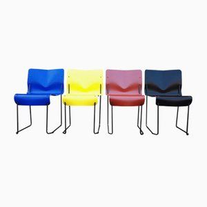 Italian Horio Chairs by Toshiaki Horio for Nemo, 1994, Set of 4