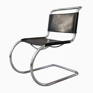 Sedia MR 10 vintage in acciaio tubolare di Ludwig Mies van der Rohe
