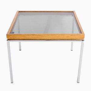 Table Basse Vintage en Bois et Chrome, 1970s