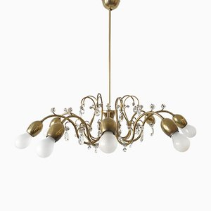 Large 8-Armed Chandelier from Lobmeyr, 1950s