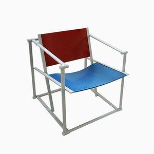 FM60 Sessel in Rot & Blau von Radboud van Beekum für Pastoe, 1980er