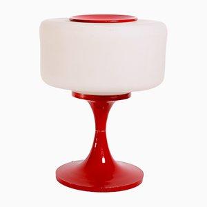 Lampe de Bureau Vintage en Verre et Acier Émaillé