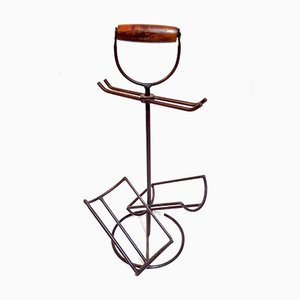 Vintage Iron Portable Wine Rack