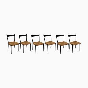 Vintage Esszimmerstühle von Alfred Hendrickx für Belform, 6er Set