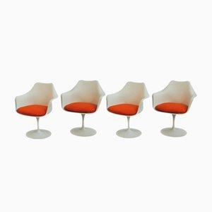 Butacas Tulip vintage de Eero Saarinen para Knoll International. Juego de 4