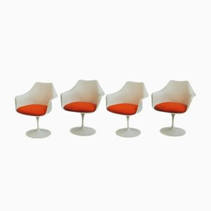 Vintage Tulip Armchairs by Eero Saarinen for Knoll International, Set of 4