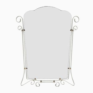 Vintage Belgian Mirror with Aluminum Frame