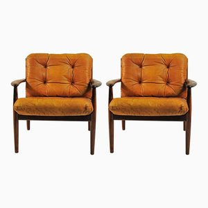 Rosewood Lounge Chairs by Grete Jalk for France & Søn, 1960s, Set of 2