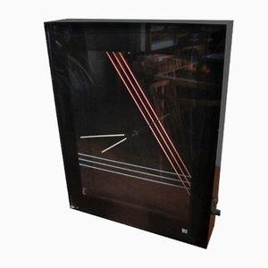 Orologio Neon nero, anni '80