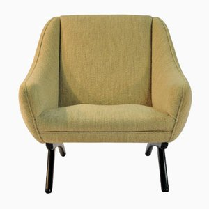 Armchair in White Fabric by Illum Wikkelsø, 1960s