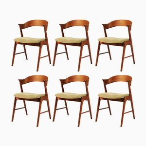 Model 32 Teak Dining Chairs by Kai Kristiansen for Shou Andersen, 1960s, Set of 6