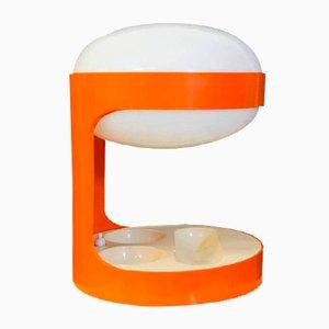 Lampada da tavolo KD29 arancione di Joe Colombo per Kartell, anni '60