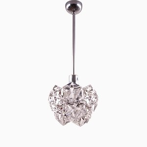 Vintage Ceiling Lamp with Hexagonal Crystals from Kinkeldey