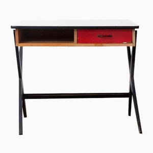 Wooden Writing Desk with Red Drawer and Formica Top by Coen de Vries for Devo, 1960s