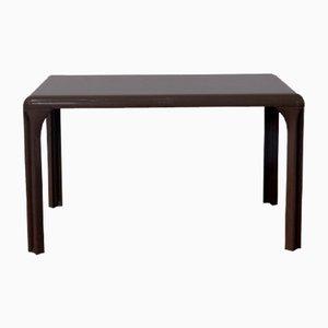 Brauner Tisch aus Plastik von Vico Magistretti für Artemide, 1970er