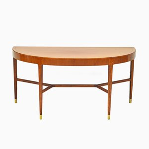 Mahogany Console Table with Brass Fittings, 1950s