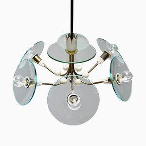 Lámpara de araña vintage de Pietro Chiesa para Fontana Arte