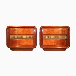 Bedside Tables by Luciano Frigerio, 1970s, Set of 2