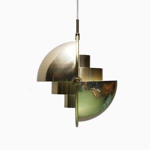 Lámpara colgante Multi-Lite de Louis Weisdorf para Lyfa, 1970