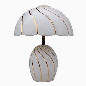 Italienische Keramik Tischlampe, 1980er