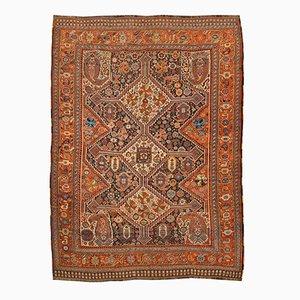 Antiker orientalischer Teppich mit geometrischem Design, 1890er