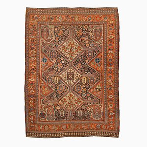 Antique Middle Eastern Rug with Geometric Design, 1890s