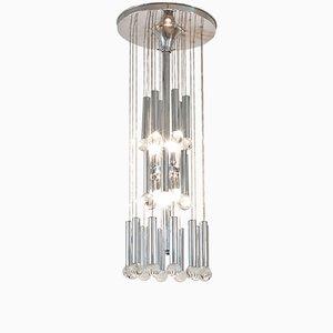 Deckenlampe mit Glaskugeln von Gaetano Sciolari, 1970er