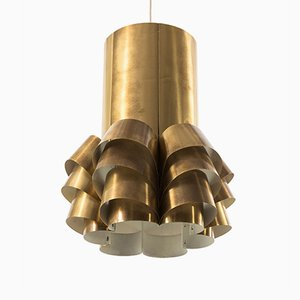 Mid-Century Brass Pendant by Hans-Agne Jakobsson for Markaryd