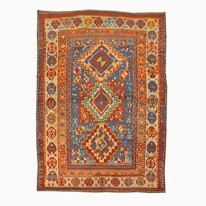 Antique Gendge Wool Rug with Classic Geometrical Figures, 1900s