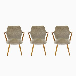 Armchairs, 1950s, Set of 3