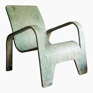 Grüner Sessel von Han Pieck für Lawo Ommen