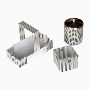 Secessionist Desk Set by Josef Hoffmann for Bieffeplast, 1970s