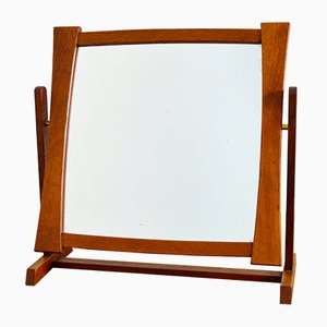 Miroir de Table en Teck de Glas & Trä, 1950s