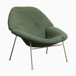 Poltrona modelo 555 verde de Pierre Paulin, años 60