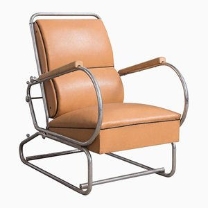 Vintage Leather Adjustable Easy Chair