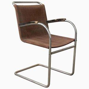 Vintage Stahlrohr Beistellstuhl