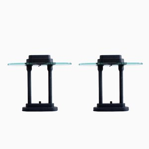Black Desk Lights, 1980s, Set of 2