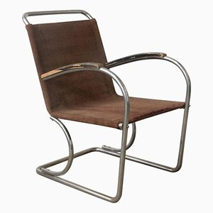 Vintage Tubular Easy Chair, 1930s