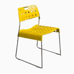 Yellow Omstak Stacking Chair by Rodney Kinsman, 1971