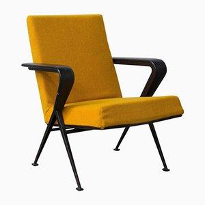 Sillón holandés amarilla de Friso Kramer para Ahrend de Cirkel, años 70
