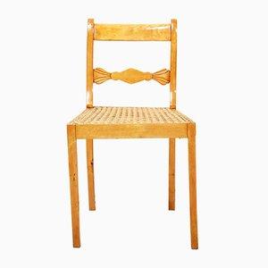 Sedia antica in legno di betulla