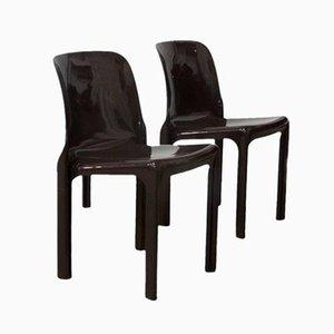 Selene Stühle von Vico Magistretti für Artemide, 1960er, 2er Set