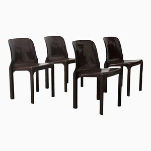 Selene Chairs by Vico Magistretti for Artemide, 1960s, Set of 4