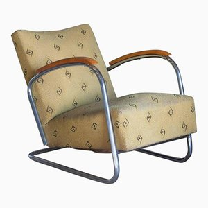 Niederländischer Vintage Stahlrohr Sessel, 1930er