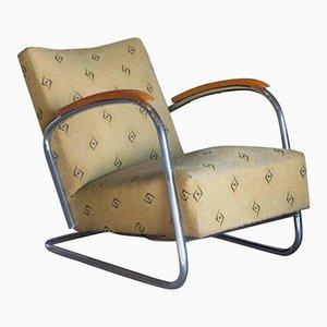 Vintage Dutch Tubular Easy Chair, 1930s
